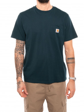 Pocket t-shirt deep lagoon L