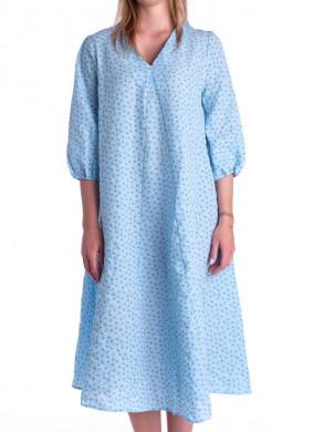 Tusja seersucker dress lt blue
