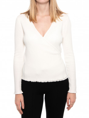 Tilly wrap blouse off white