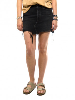 Deconstructed skirt blk peony