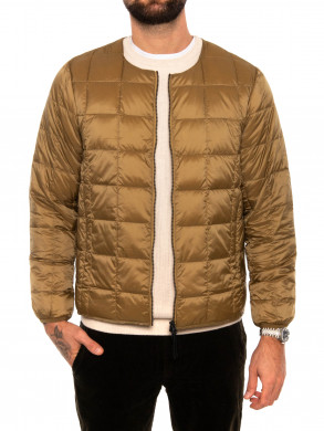Crew neck down jacket beige