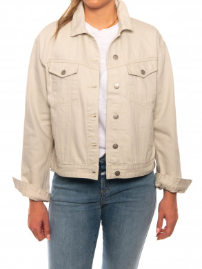 Alva trucker jacket washed pinfire