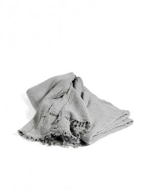 Crinkle bedspread grey