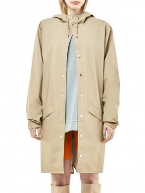 Long rain jacket beige