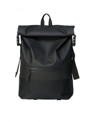 Buckle rolltop backpack black