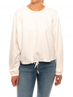 Womans top sweatshirt ivory