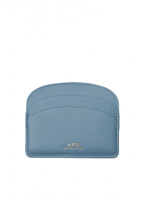 Card holder demi lune bleu gris