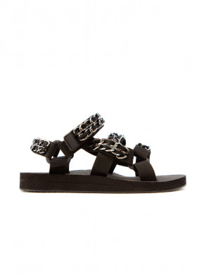 Trekky sandals chain trio chain black