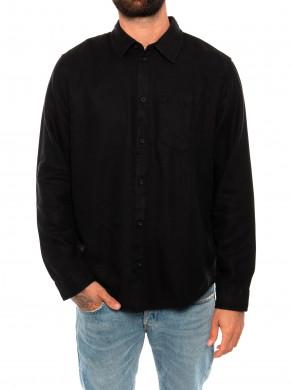 Chuck fluid twill shirt black