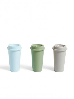 Paquet coffee cup 3 pcs blue