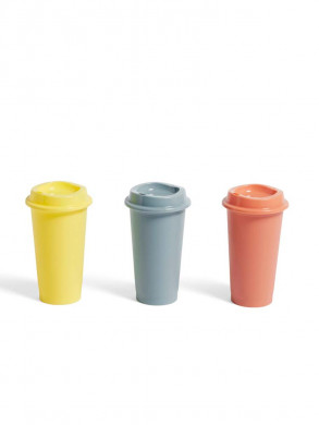 Paquet coffee cup 3pcs yellow
