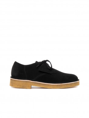 Desert khan shoe black suede