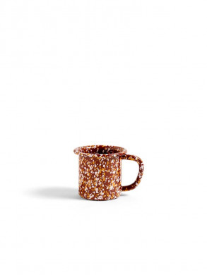 Enamel mug sprinkle brown