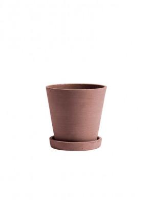 Flowerpot with saucer M terracotta