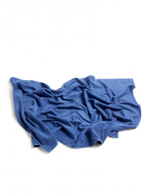 Frottee bath towel blue