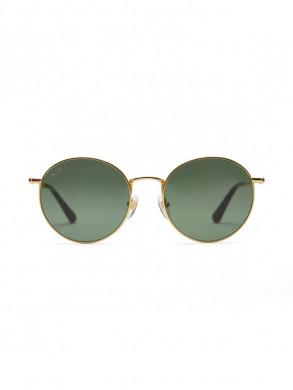 London sunglasses gold green