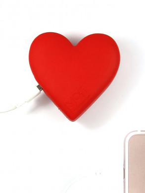 Heart power bank red