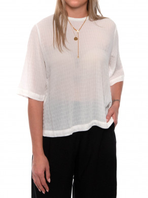 Isabel blouse ss clear cream