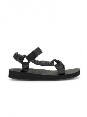 Trekky sandals leather black black