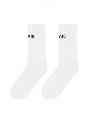 Logo tube socks white
