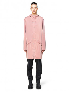 Long rain jacket blush
