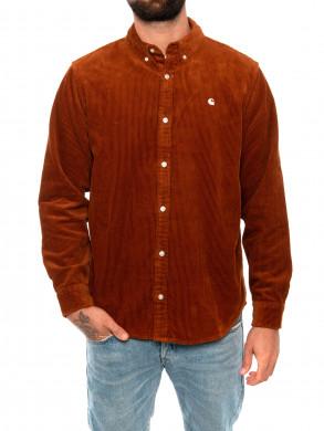 Madison cord shirt brandy
