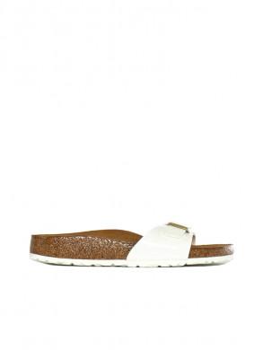 Madrid sandals patent white