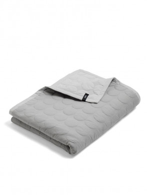 Mega dot quilted bed cover light grey