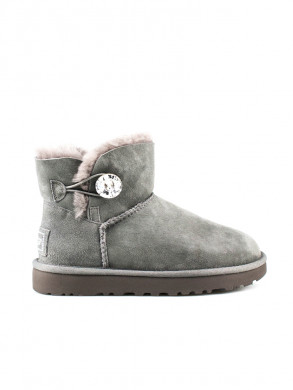 Mini bailey button boot bling grey