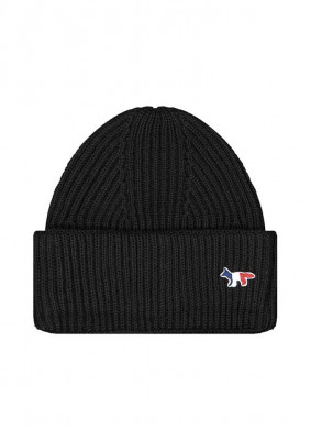 Ribbed hat fox patch black