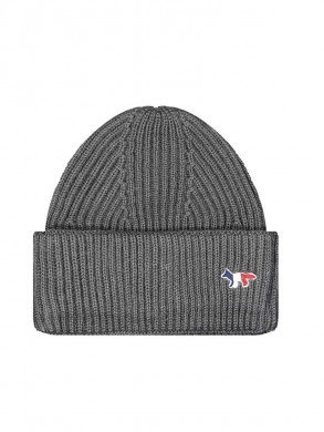 Ribbed hat fox patch grey mel