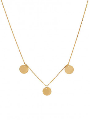 Multi coin necklace gold