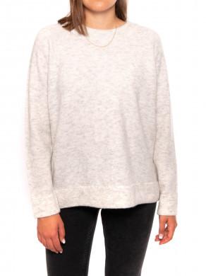 Nor long pullover white melange