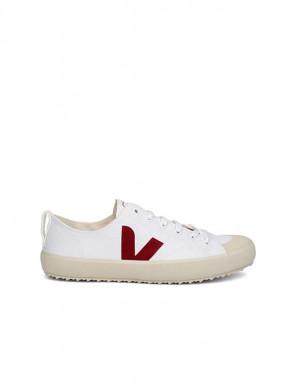 Nova canvas sneaker white marsala