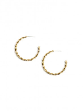 Chunky twist loops pale gold
