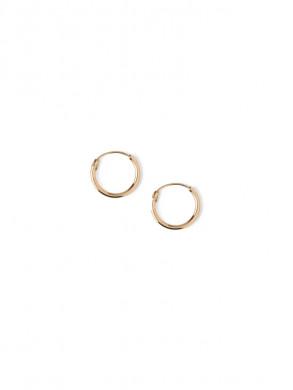Micro hoop earrings pale gold