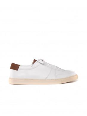 R18 sneaker white tan