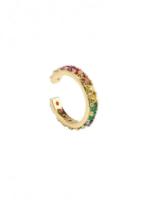 Rainbow cuff earring gold
