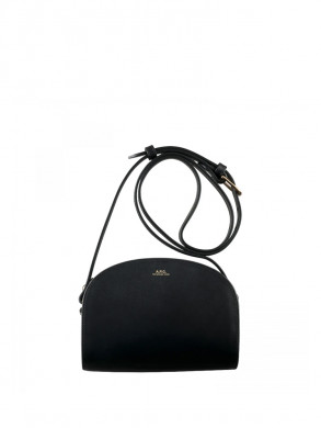 Sac demi lune bag mini glatt lzz-bnoir