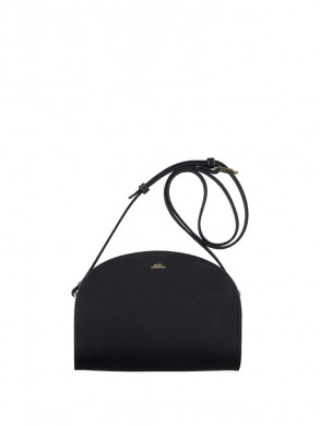Sac demi lune structure bag mini lzz-noir