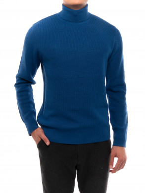 Hassan turtleneck pullover blue