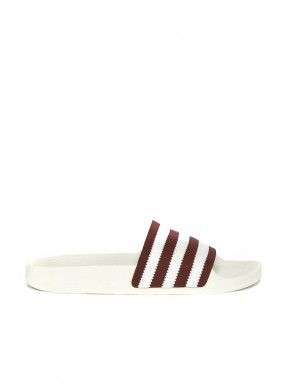 Adilette sandals leather wht burg