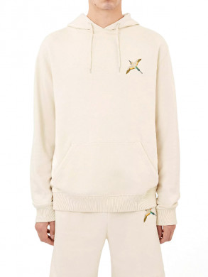 Single tori bird hoodie pale beige