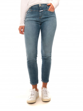 Skinny pusher jeans mid blue