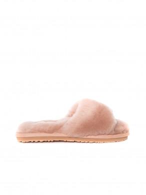 Sheepskin slide slipper robe