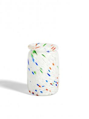 Splash vase roll neck M white dot