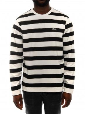 Printed stripe ls black