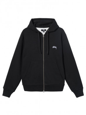 Thermal zip hood jacket black
