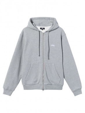 Thermal zip hood jacket heather grey