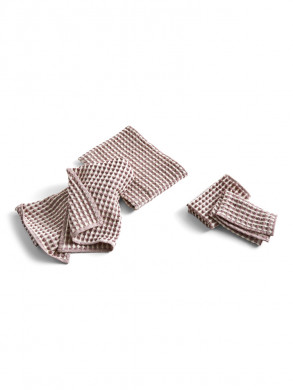 Twist dish cloth towel burgundi